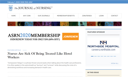 Journal of Nursing - nursing journal