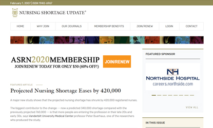 Nursing Shortage Update - nursing journal